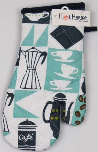 Oven Glove Cafe' design Code: OG- CAF CLEARANCE