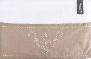 Embroidered cotton hand towel 'Sienna Linen' Code: HT-SIE/LIN