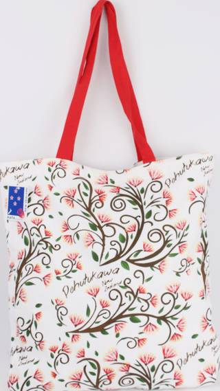 Tote bag Pohutukawa.  Code: TB-POH. NEXT DELIVERY SEPT 2019