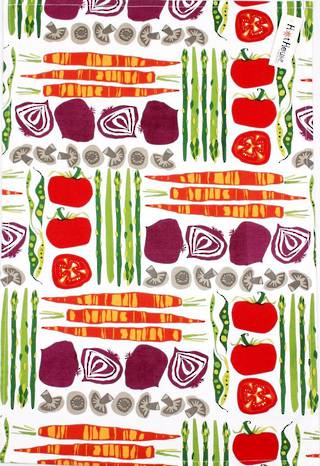 Tea towel vegie patch Code: T/T-VGP