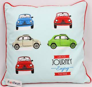 Bambina cushion cover 'Life's a journey enjoy the ride'  Code: CUS-CVR/BAM