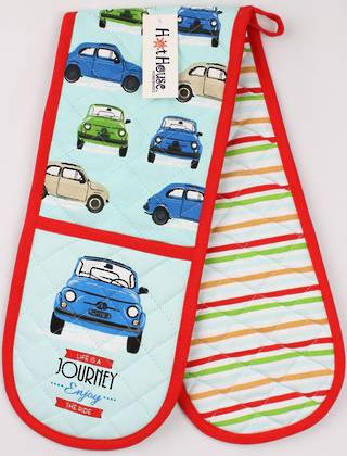 Bambina double oven mitt 'life's a journey so enjoy the ride' Code : DM-BAM