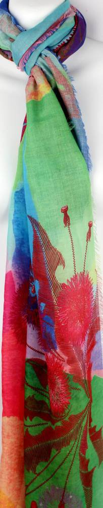 Alice & Lily printed scarf humingbird garden Style: SC/4354
