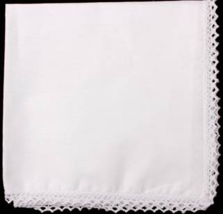 Embroidered lace handkerchiefs 'PLAIN' Style: EHC/PLAIN
