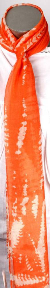Printed scarf Reptile orange Style :SC/4136/OR